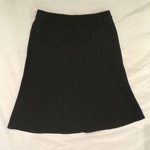 NWT Ann Taylor LOFT Black Skirt 00